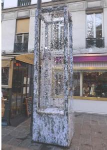 Street decorations in Paris